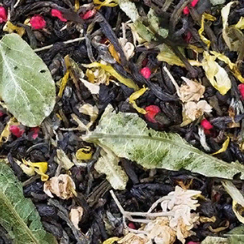 """Чай """"С лёгким паром"""" зеленый китайский с ягодами и лепестками"""
