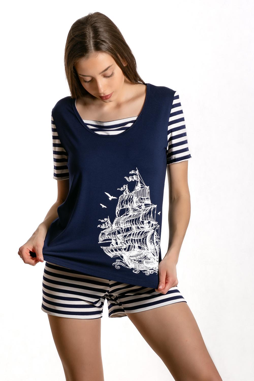 "Костюм женский ""Парус 1"" (шорты, футболка)"