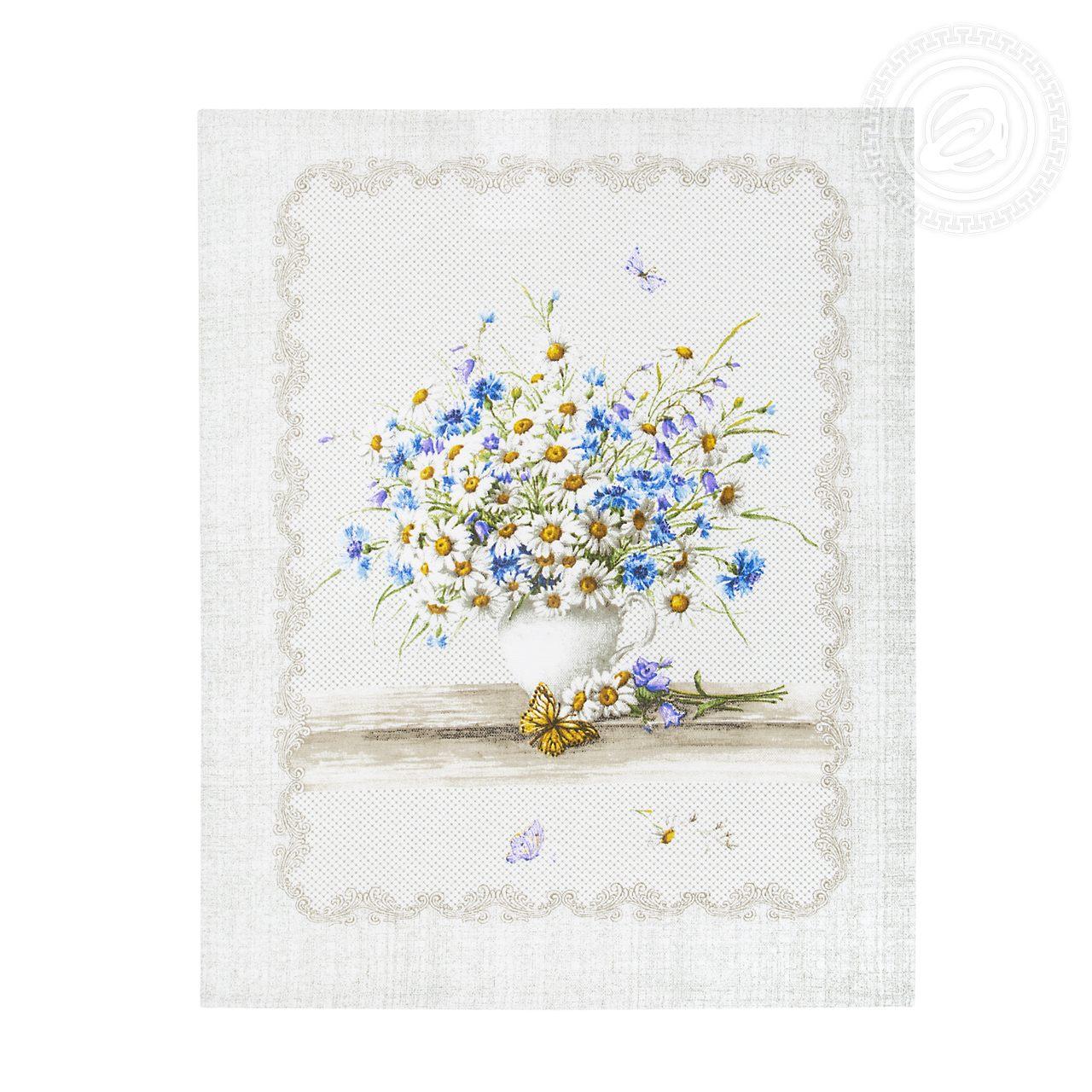 """Набор полотенец из рогожки """"Полевые цветы"""" (3 шт)"""