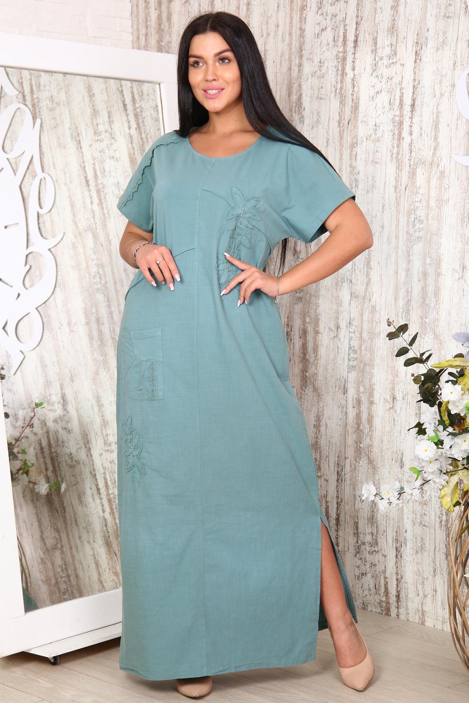 """Платье женское льняное с вышивкой """"Коллидора"""""""