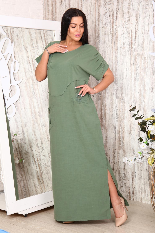 """Платье женское льняное с вышивкой """"Дайон"""""""