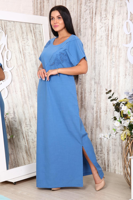 """Платье женское льняное с вышивкой """"Каллисто"""""""