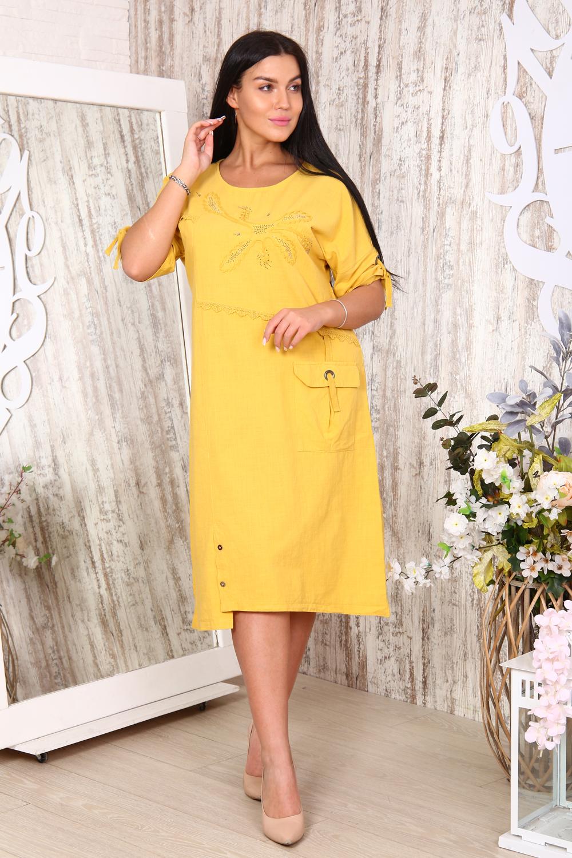 """Платье женское льняное с вышивкой """"Зофия"""""""