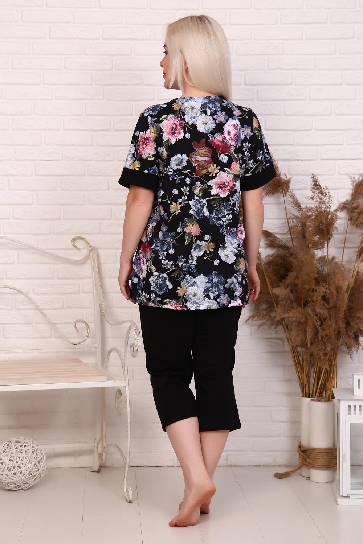 "Костюм женский ""Flowers""(бриджи,футболка)"