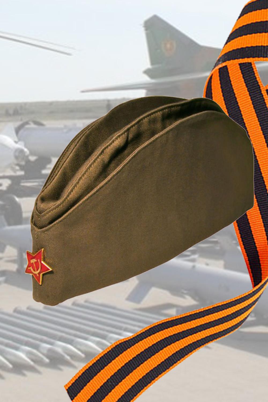 Пилотка солдатская со звездой