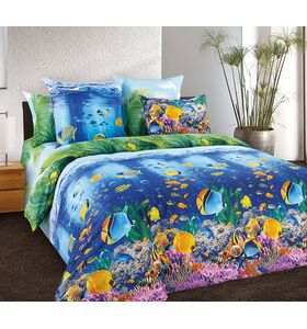"""Комплект постельного белья из перкаля """"Подводный мир 1"""""""