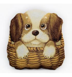 """Подушка-игрушка """"Собачка в лукошке подушка"""" (29х30 см)"""