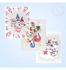 """Комплект полотенец """"Гномики"""" (3 полотенца 45х60)"""