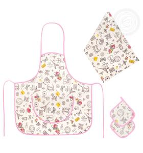 "Набор для кухни ""Мадам №3"" (фартук, полотенце, 2 прихватки)"