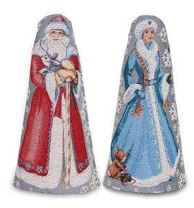 "Набор гобеленовых чехлов на бутылку ""Дед Мороз и Снегурочка"" (2 шт)"