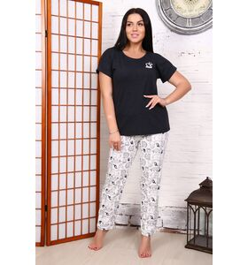 """Пижама женская тройка """"Зоо"""" (шорты,брюки,футболка)"""