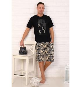 "Костюм мужской ""World"" (шорты,футболка)"