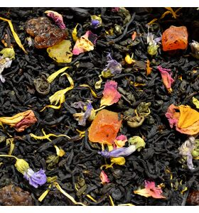 """Чай """"Утро Клеопатры"""" смесь черного и зеленого чаёв с фруктами и лепестками цветов"""