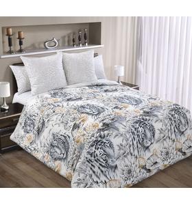 """Комплект постельного белья из перкаля """"Белый тигр"""""""