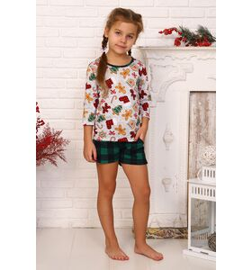 "Пижама детская ""Карамелька"" (шорты, футболка)"