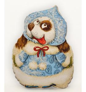 "Подушка-игрушка гобеленовая ""Год Собаки. Снегурочка"" 35х45"