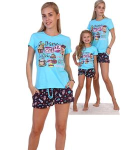 """Пижама """"Чизкейк""""(шорты, футболка)"""