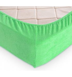 """Махровая простыня на резинке """"Светлая зелень"""""""