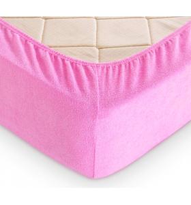 """Махровая простыня на резинке """"Ярко-розовый"""""""