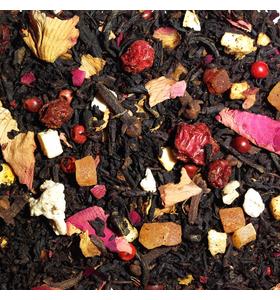 """Чай """"Вечерний глинтвейн"""" чёрный байховый крупнолистовой с добавлением растительного сырья."""