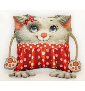 """Подушка игрушка гобеленовая """"Добряша с карманом и бантиком"""" (35х45)"""