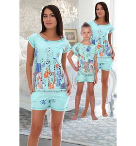 """Костюм женский """"Веселые друзья"""" (шорты, футболка)"""