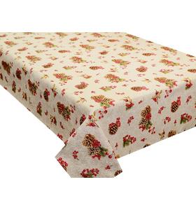 """Скатерть гобеленовая """"Новогодняя. Шишки и ягоды"""" (150х170 см)"""