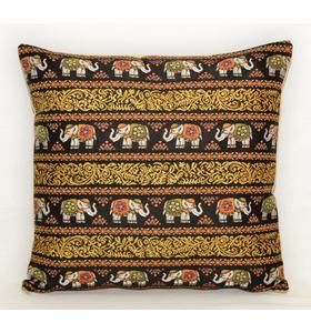 """Наволочка гобеленовая """"Индийские слоны. Восточная ночь (слоны и орнамент)"""" на молнии 45х45"""