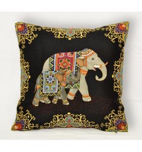 """Наволочка гобеленовая """"Индийские слоны. Слон вправо (Спокойствие)"""" на молнии 45х45"""
