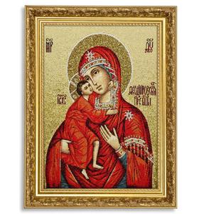 """Икона гобеленовая """"Богородица Фёдоровская"""" в багете"""