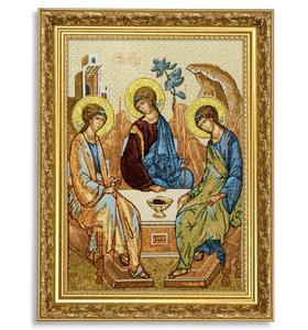 """Икона гобеленовая """"Троица"""" в багете"""